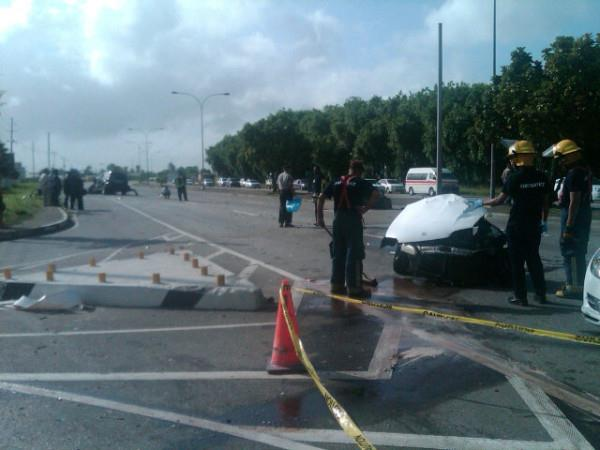 Early Morning Accident in Trinidad involving Acting Chief of Justice Wendell Kangaloo