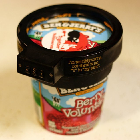 If the people you live with steal your ice cream, check this out! Ben & Jerry's Pint Lock