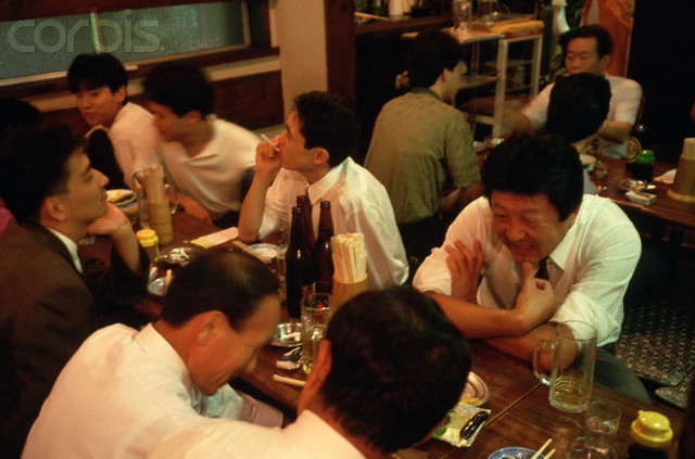 Japanese Men in a Restaurant