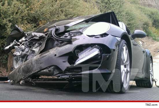 Lindsay Lohan Hospitalized After Totaling Porche