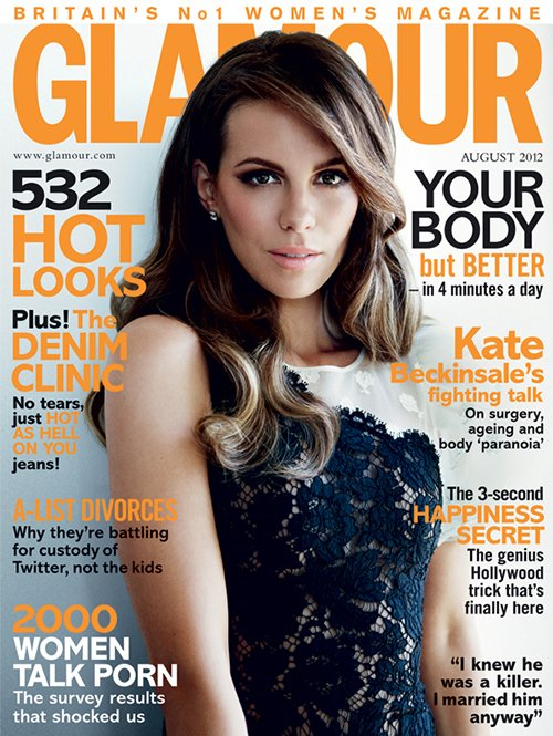 Kate Beckinsale Talks Timeless Beauty, Having Another Child & More In Glamour UK Magazine [Aug '12]