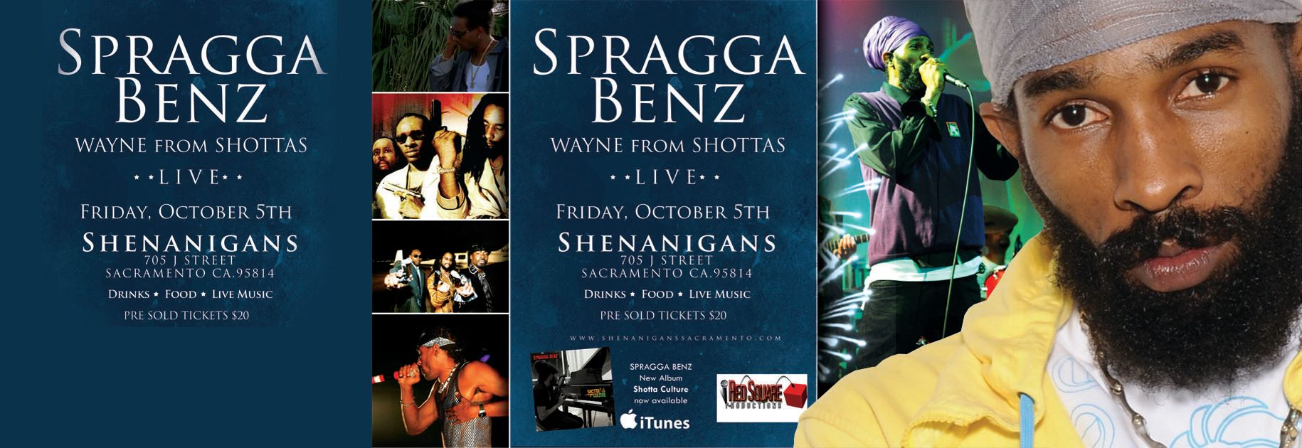Spragga Benz to perform on Oct. 5th @Shenanigans, Sacramento CA