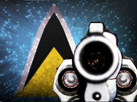 St Lucia News : Robber shot by police.