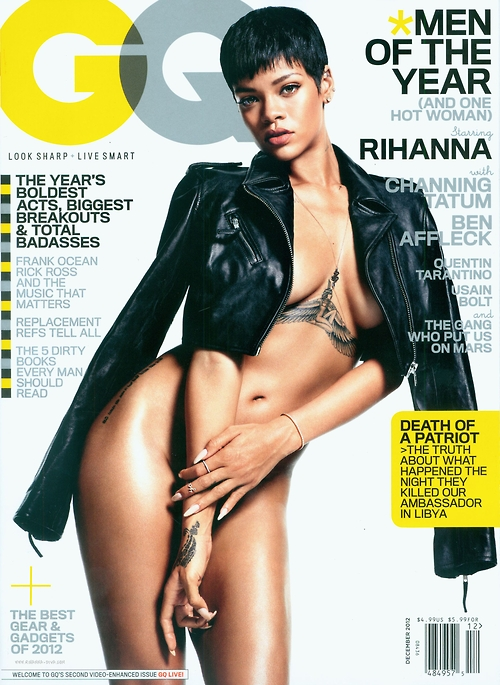 Rihanna Goes Nude For GQ's 'Men Of The Year' Issue