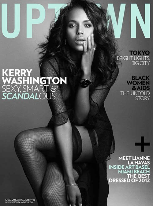 Kerry Washington Gets Scandalous For 'Uptown' Magazine