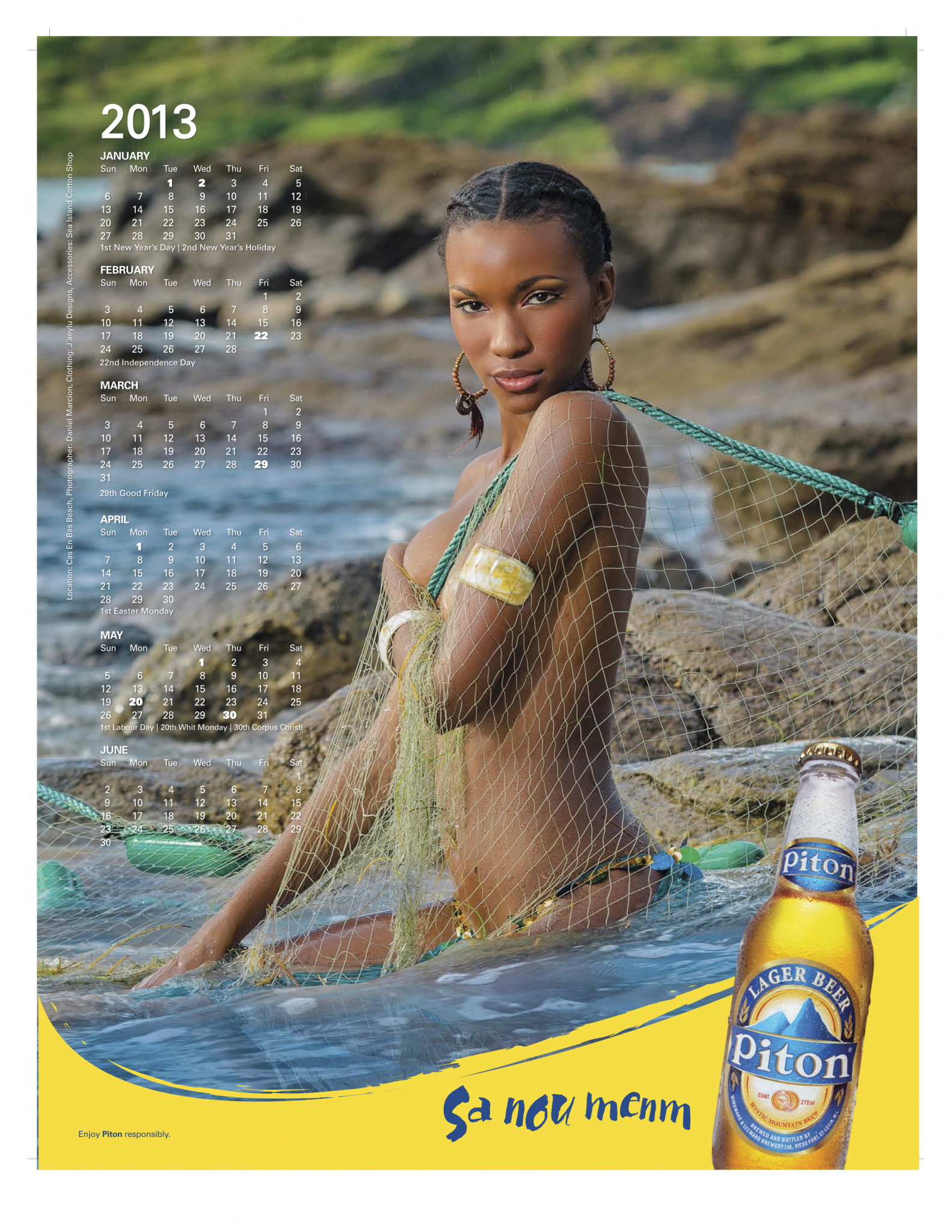 Take a peek at Piton Calendar Girl for 2013 : Meet Tangie (St Lucia News)