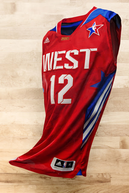 The Adidas NBA All-Star 2013 Jersey's