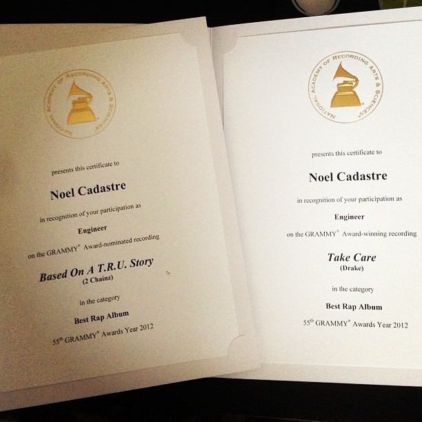 Congrats to St Lucian born Noel Cadastre on His 2 Grammy Certificates (St Lucia News)
