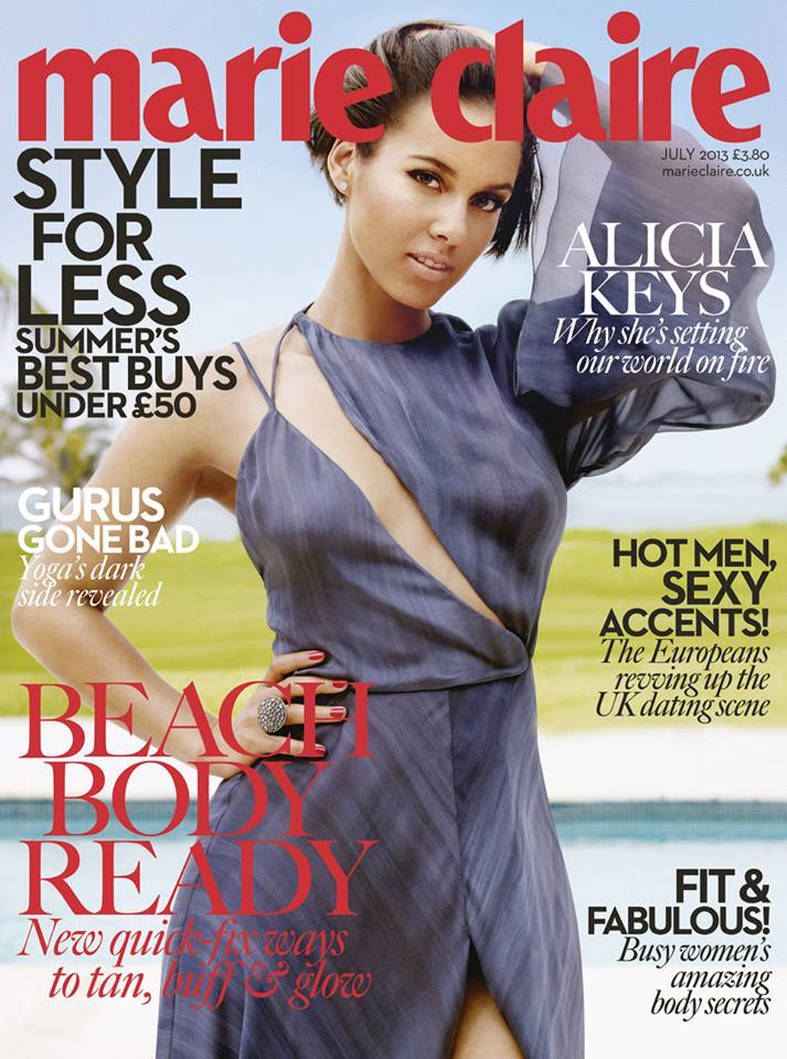 Alicia Keys in Marie Claire: 'Getting Older Has Made Me Evolve'