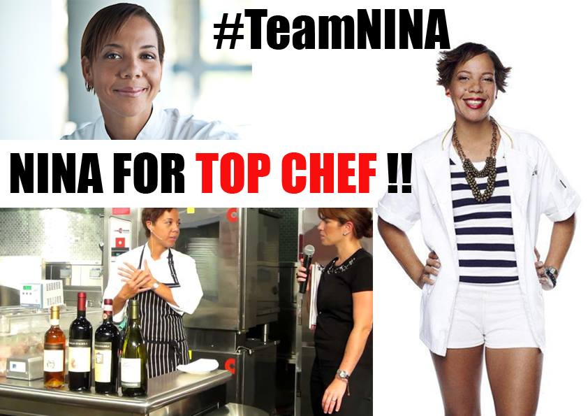 Nina Compton for Top Chef – from 6pm all Lucian post this Twitter & Fb #TeamNina758