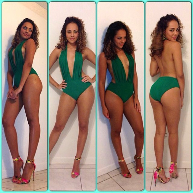 Recording Artist Aiasha Gustave rocks sexy Body Suit by @sashaolivia17 (St Lucia)
