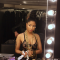 "Nicki Minaj's rocking ""Black Peacock One Piece Crochet Swimsuit"" 