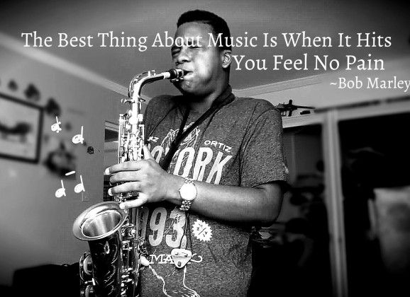 """Young St Lucian """"Rashaad Joseph"""" on the Sax covering Bob Marley's """"Turn your lights down low"""""""