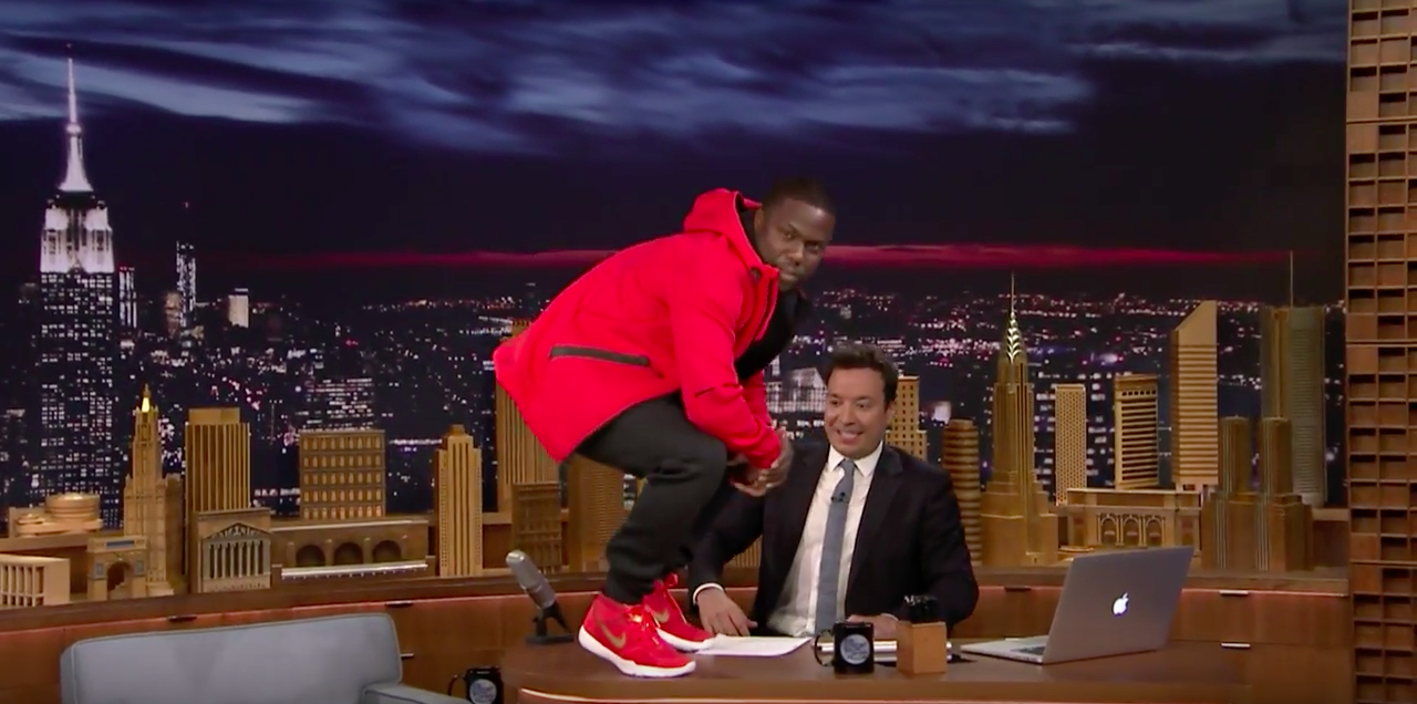 b58c8400de32 Kevin Hart Announces His Nike Cross-Training Shoes On The Tonight Show