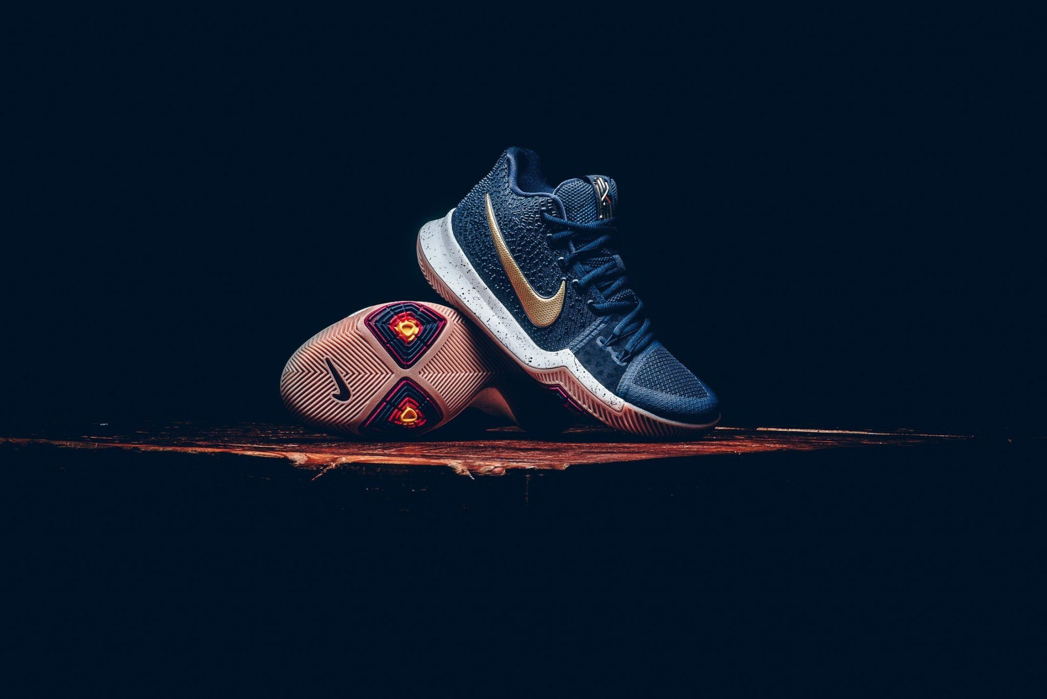 131d8d16484 NBA 2K18 cover star Kyrie Irving releases his Nike Kyrie 3 to retailers  this weekend in an Obsidian primary with Metallic Gold accents.