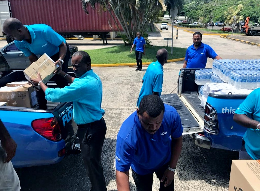 Saint Lucia Country Manager Chris Williams Helps Pack Supplies For Dominica 1