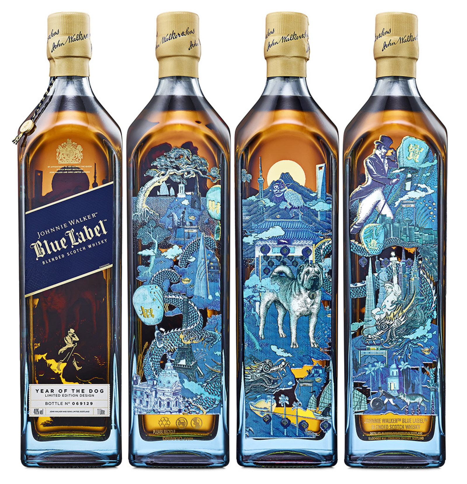 johnnie walker blue label rings in lunar new year with new limited edition year of the dog bottle. Black Bedroom Furniture Sets. Home Design Ideas